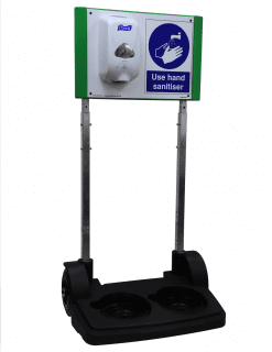 SafetyHub Mobile Sanitiser Station model SH05